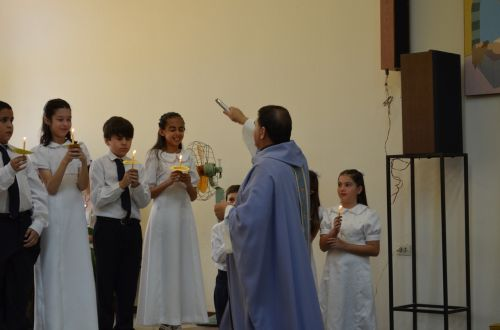 blessing communion priest