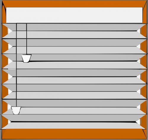 blinds closed furniture