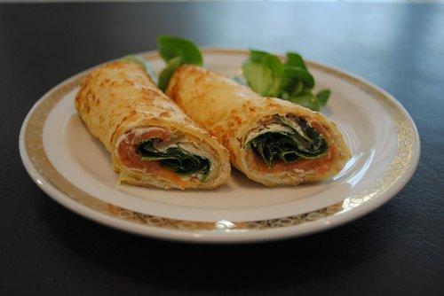 blini  salmon  pancakes