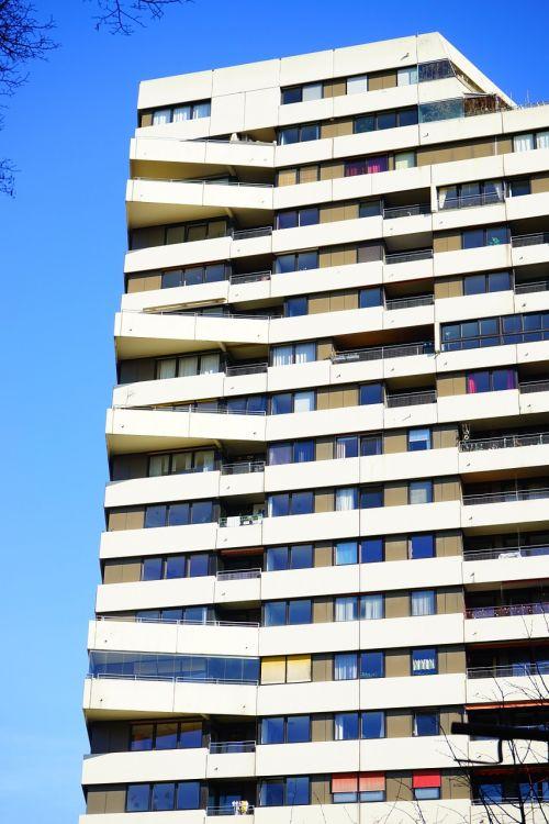 block of flats skyscraper apartments