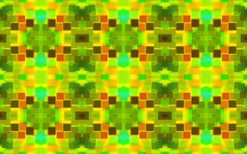 Block Pattern In Greens And Yellows