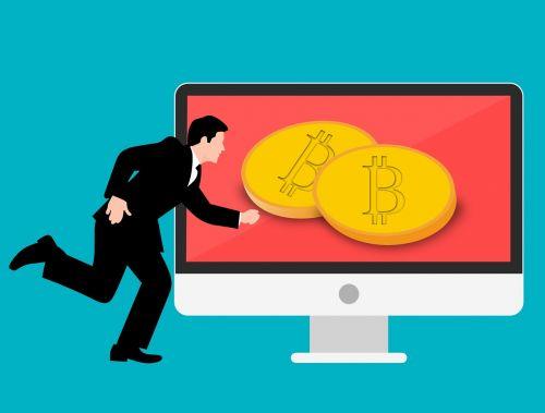 blockchain bitcoin businessman