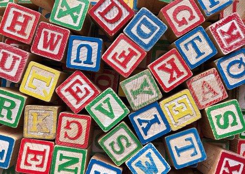 blocks  letters  alphabet