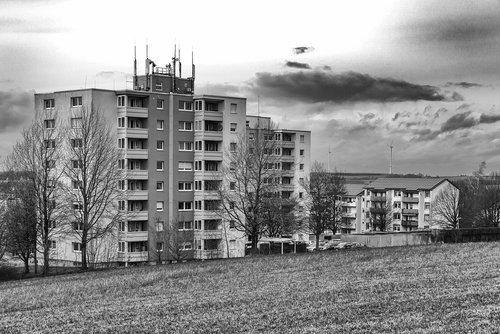 blocks of flats  city  architecture