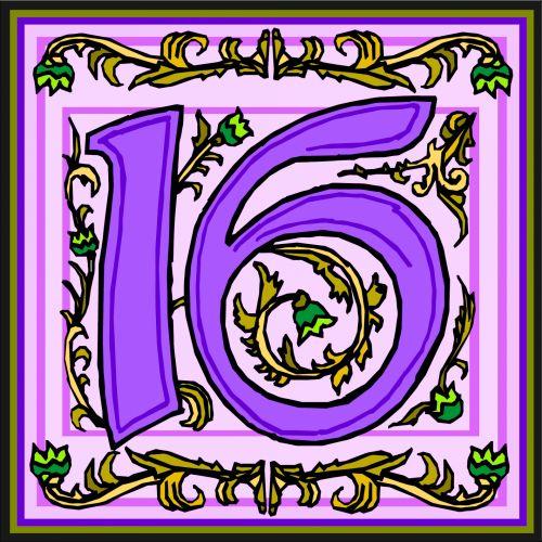 Flowery Purple Number 16