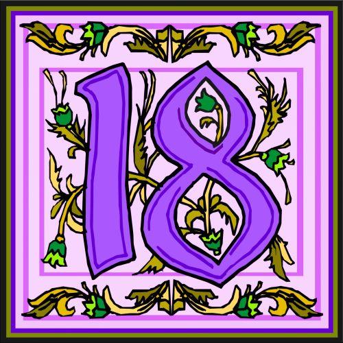 Flowery Purple Number 18