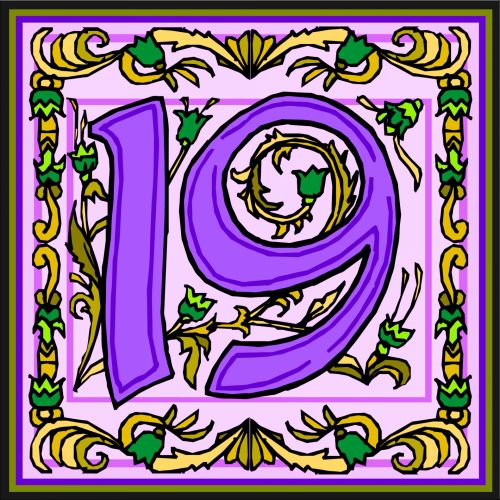 Flowery Purple Number 19