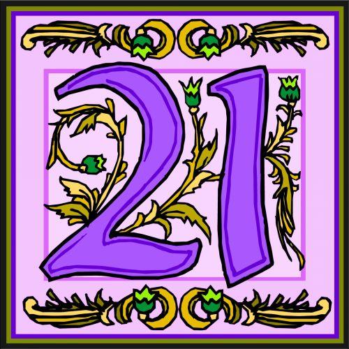 Flowery Purple Number 21