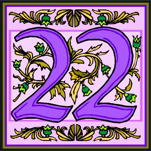 Flowery Purple Number 22