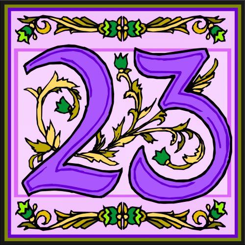 Flowery Purple Number 23