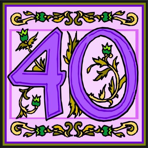 Flowery Purple Number 40