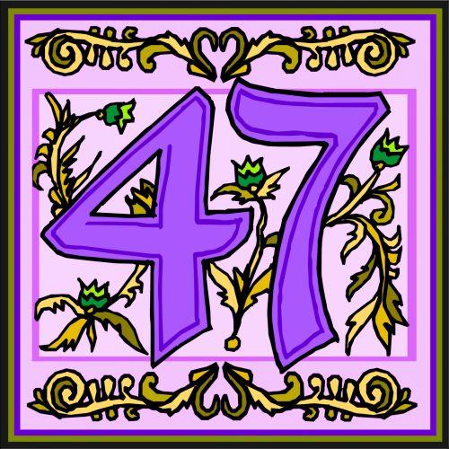 Flowery Purple Number 47