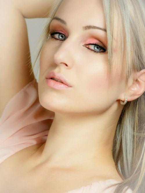 portrait face pink