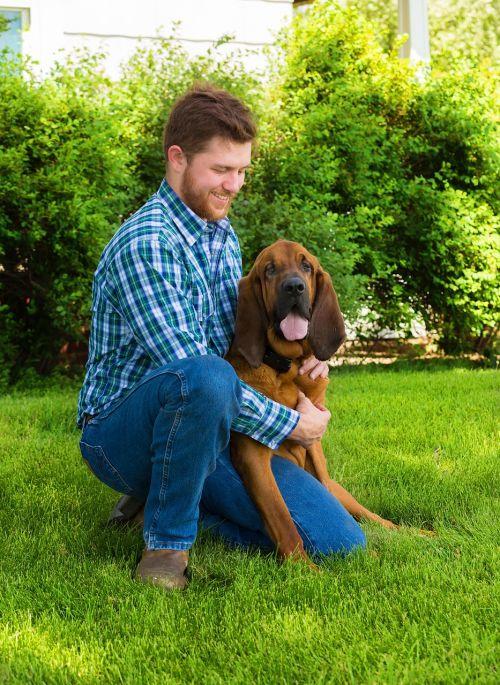 blood hound man best friend