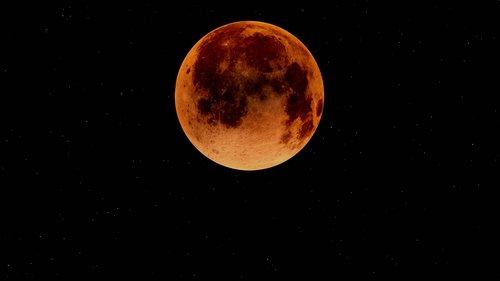 blood moon  moon  lunar eclipse