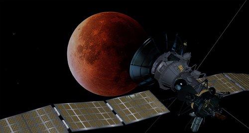 blood moon  satellite  space travel