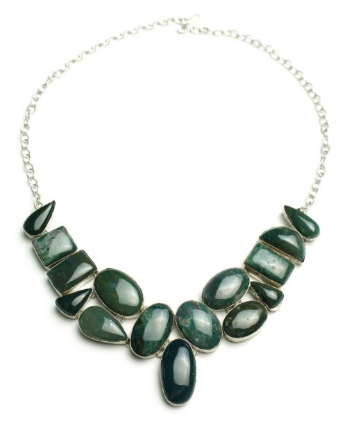 bloodstone necklace sterling