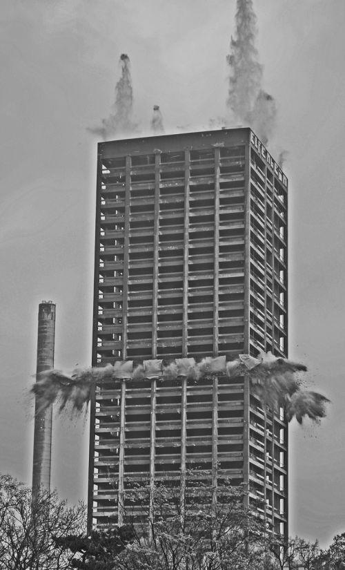 blowing up afe tower frankfurt