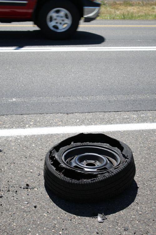 blowout tire wheel