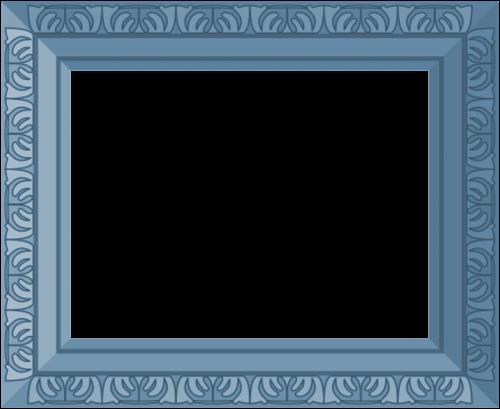 blue frame ornate