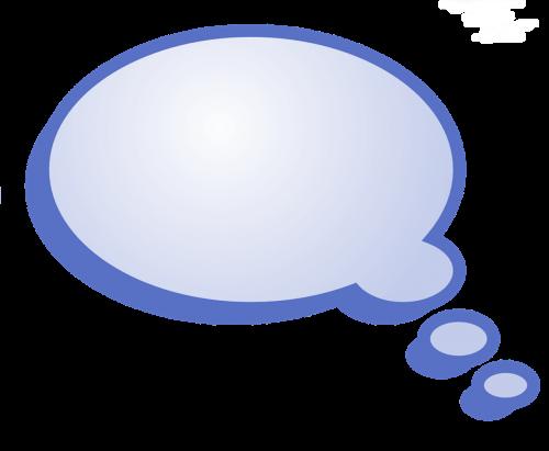 blue bubble text