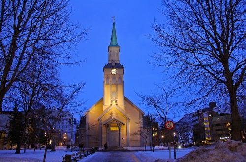 blue church dark