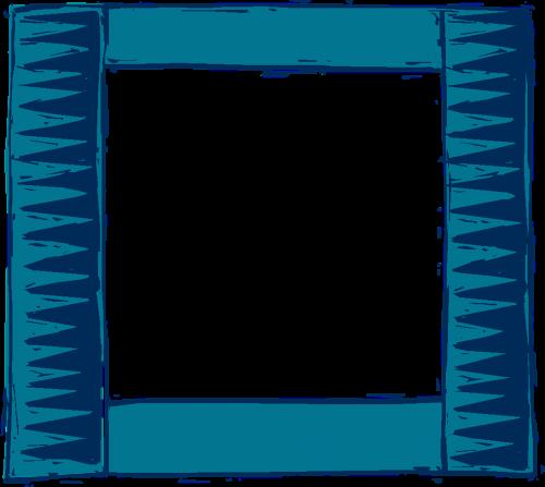 blue green square
