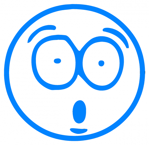 blue cartoon cartoon smiley
