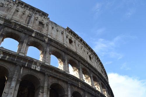 blue rome colosseum