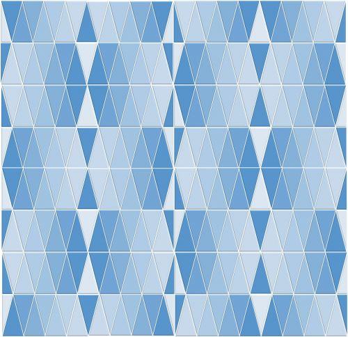 blue monochrome geometric