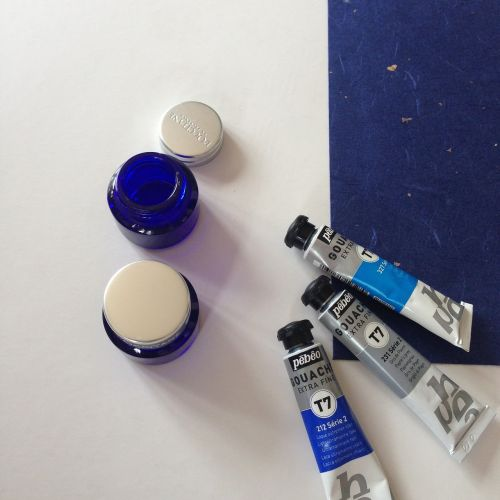 blue ink paints