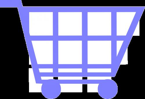 blue cart shopping