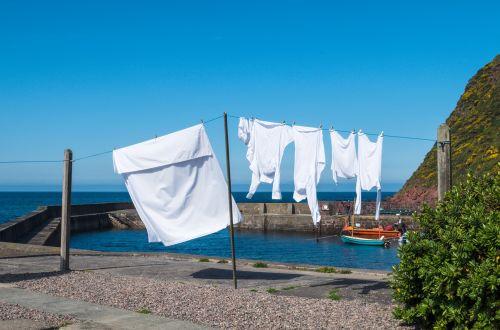 blue laundry clothes line