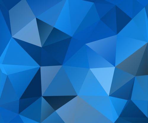 blue triangles polygon