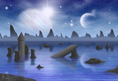 blue planets fantasy