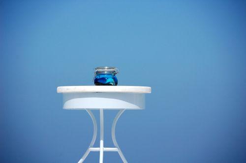blue santorini island