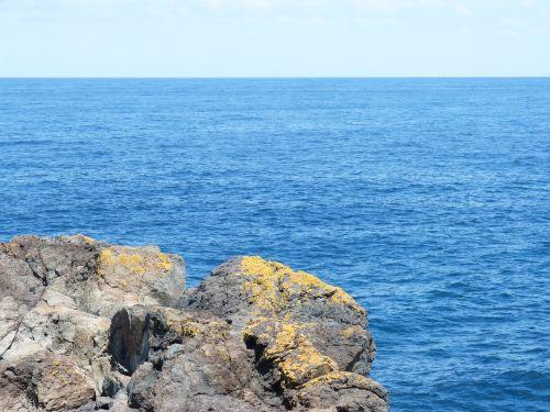 blue blue water horizon