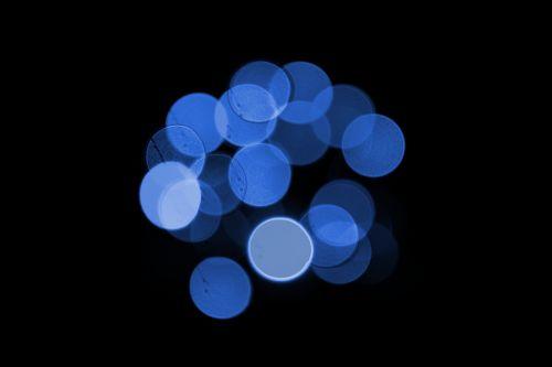 blue black bokeh