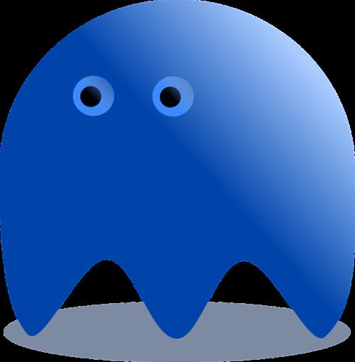 blue ghost pacman