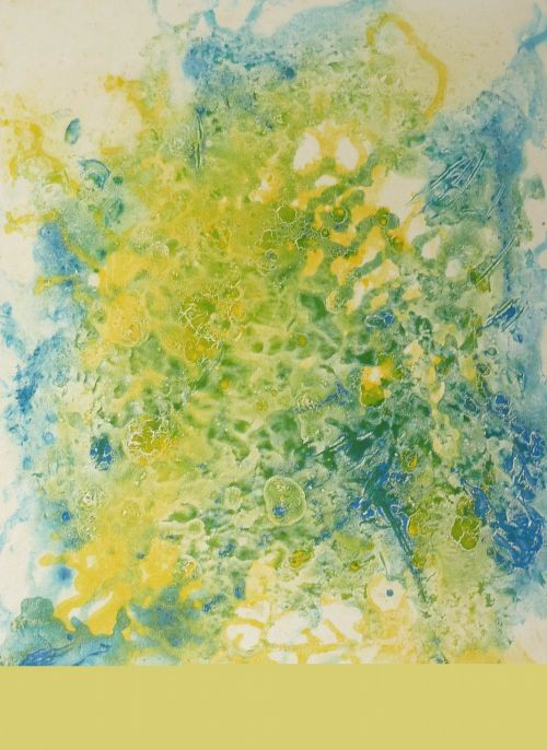 blue yellow painting