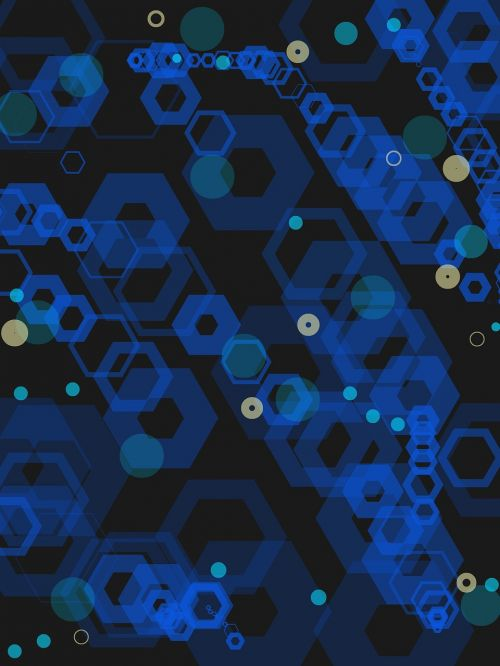 blue tech abstract