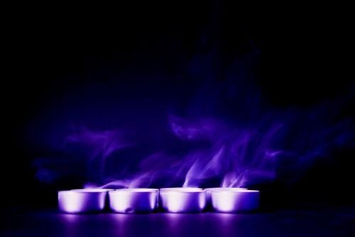 blue violet smoke