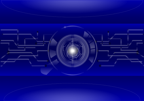 blue matrix background