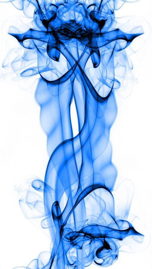 blue smoke transparent