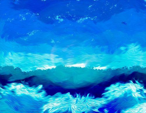 blue sky artwork