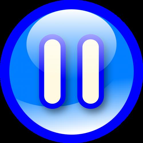 blue button pause