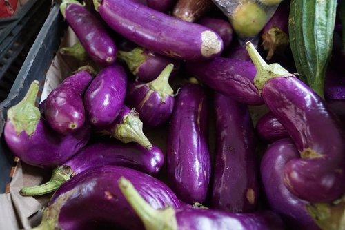 blue  vegetables  eggplant