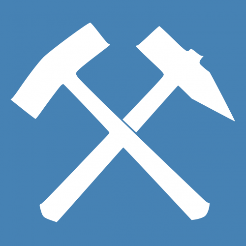 blue white tools