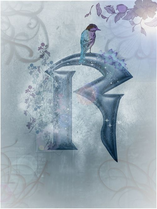 blue alphabet letter