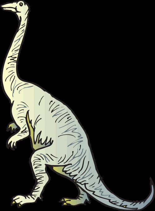 blue yellow dinosaur